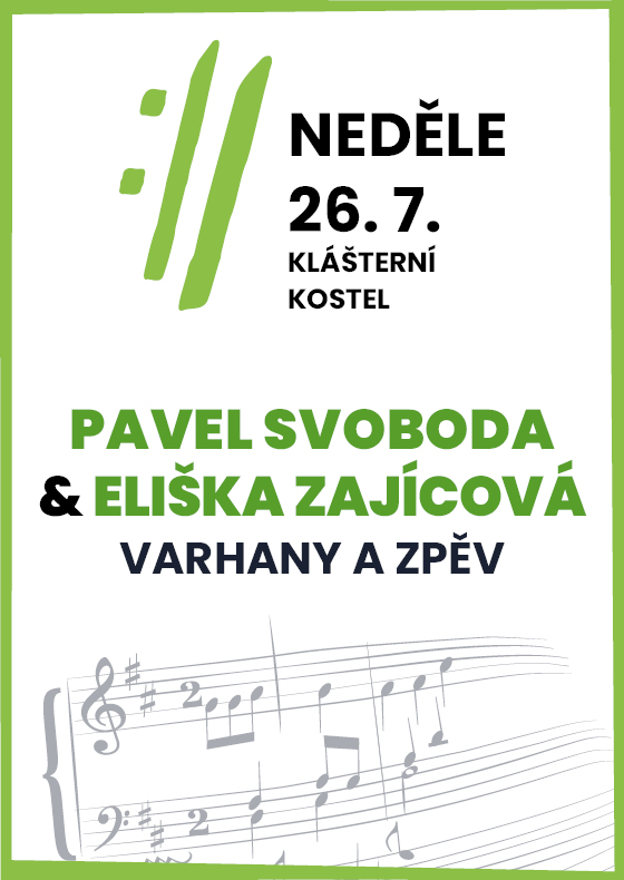Pavel Svoboda, Eliška Zajícová<BR>International Music Festival Český Krumlov 2020