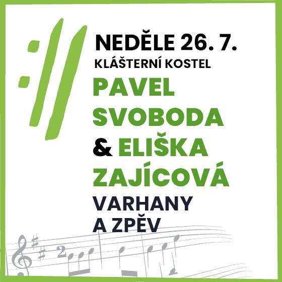 Pavel Svoboda, Eliška Zajícová<BR>Mezinárodní hudební festival Český Krumlov 2020
