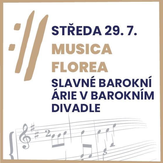 Musica Florea a sólisté<BR>Mezinárodní hudební festival Český Krumlov 2020