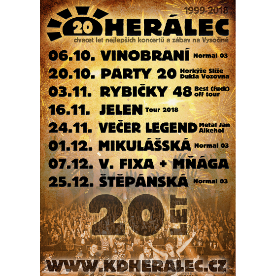 VEČER LEGENDAlkehol, Metal Jan a AC/DC revival, Herálec, 24/11/2018 20:00