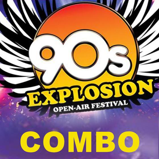 Combo vstupenka<br>90s Explosion open-ar festival<br>Praha a Brno