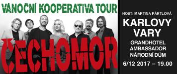 Čechomor/Vánoční Kooperativa tour 2017/- koncert Karlovy Vary -Grandhotel Ambassador NÁRODNÍ DŮM Karlovy Vary   Karlovy Vary