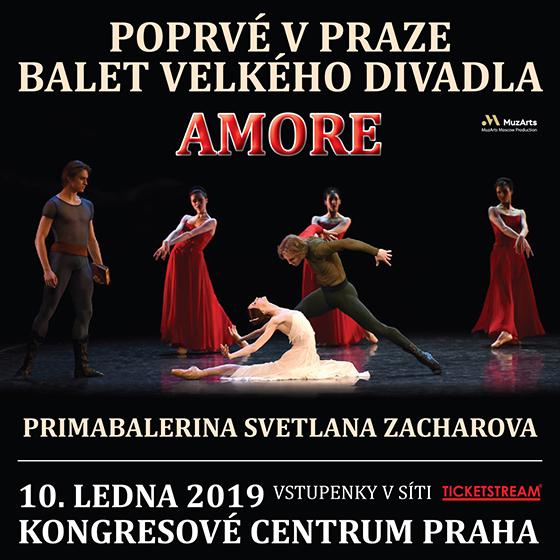 Poprvé v Praze balet Velkého divadla AMORE<br>PRIMABALERINA SVETLANA ZACHAROVA