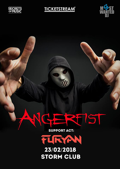 Angerfist in Prague<br>Raise your FIST for ANGERFIST!<br><font color=red>Entrance/Vstup 16+</font>