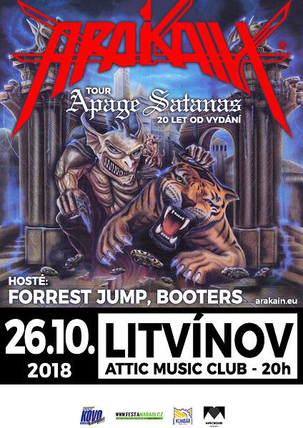 ARAKAIN<br>APAGE SATANAS TOUR 2018<BR>HOST: FORREST JUMP, BOOTERS