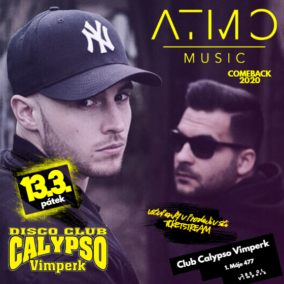 ATMO MUSIC/ZPÁTKY NA PÓDIU 2020/-  Vimperk  -Disco club Calypso   Vimperk