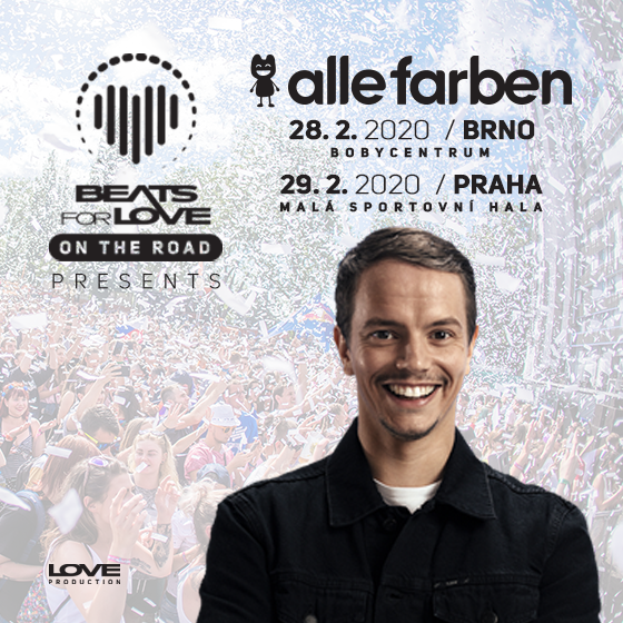 Beats For Love - On the Road - PRAHA<br>pres. Alle Farben