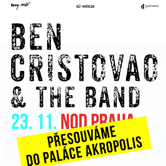 Ben Cristovao & The Band<br><font color=red>Přesunuto do Paláce Akropolis</font>