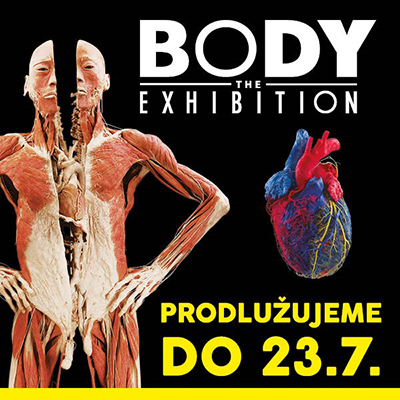 BODY THE EXHIBITION, Praha, 22/04/2017 13:00
