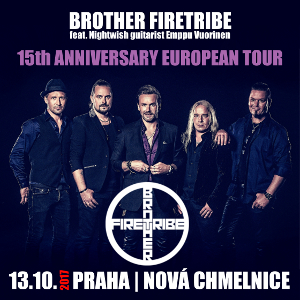 Brother Firetribe feat. Nightwish guitarist Emppu Vuorinen, Praha, 13/10/2017 20:00