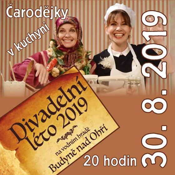 Čarodějky v kuchyni<br>Divadelní léto 2019 na vodním<br>hradě Budyně nad Ohří