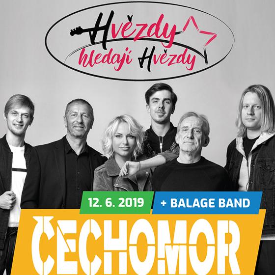Hvězdy hledají hvězdy<br>koncert skupiny Čechomor<br>a Balage band