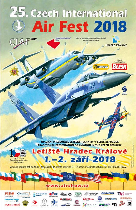 XXV. CZECH INTERNATIONAL AIR FEST<br>CIAF 2018