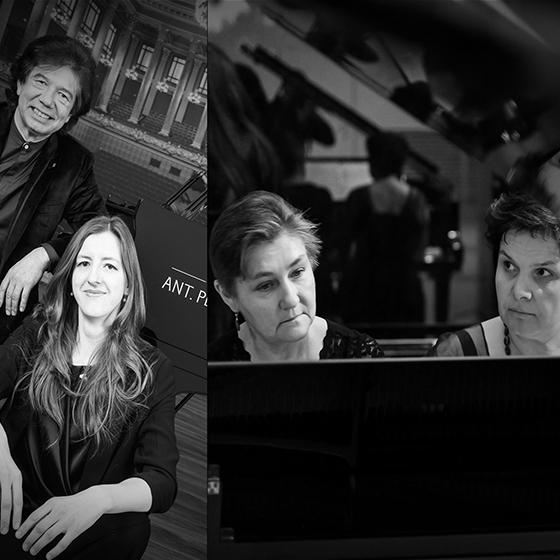 Jedinečný Bach a čtyři klavíry<BR>Duo Petrof & Duo Egia
