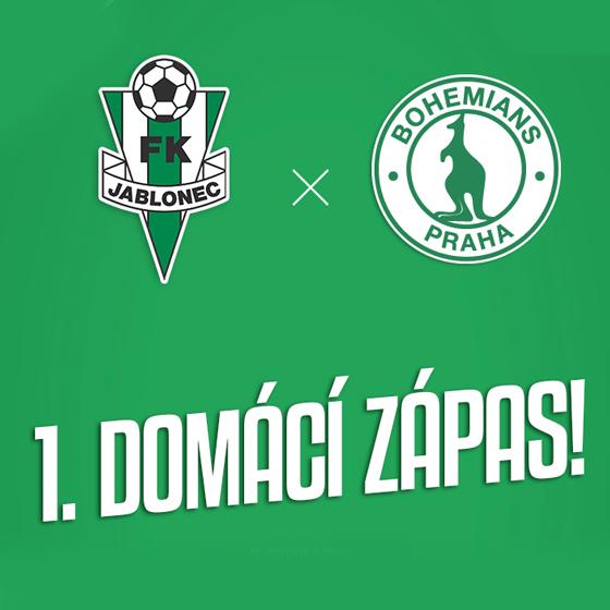 SEASON 2019/2020<br>FK Jablonec vs. Bohemians Praha 1905<br>Fortuna:Liga