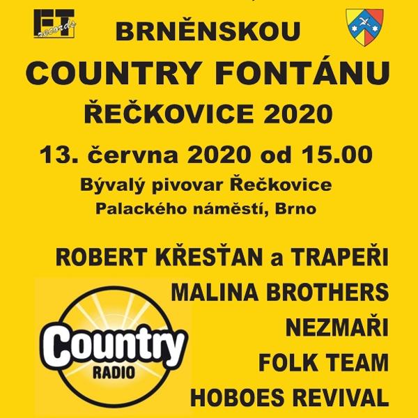 Brněnská Country fontána<BR>Řečkovice 2020