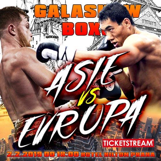 BOX Galashow Evropa VS Asie<br><font color=red>prodej vstupenek na místě od 15h</font>