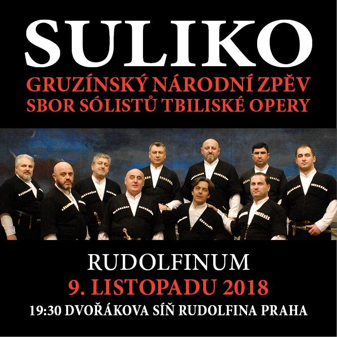 GRUZÍNSKÝ NÁRODNÍ ZPĚV/SULIKO/SBOR SÓLISTŮ TBILISKÉ OPERY-  Praha  -Rudolfinum   Praha