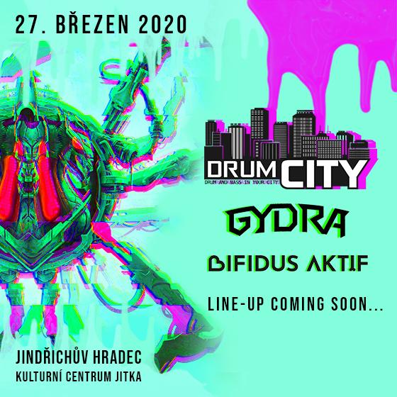 DRUMCITY W/GYDRA/BIFIDUS AKTIF, DOPAMIN, HROUNEX/-  Jindřichův Hradec  -KC Jitka   Jindřichův Hradec