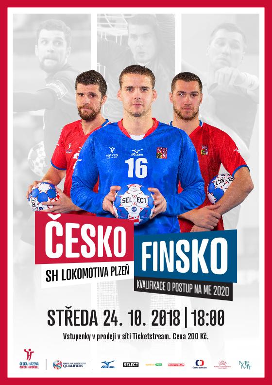 Česká republika - Finsko<br>Kvalifikace EURO 2020<br>Házená - muži