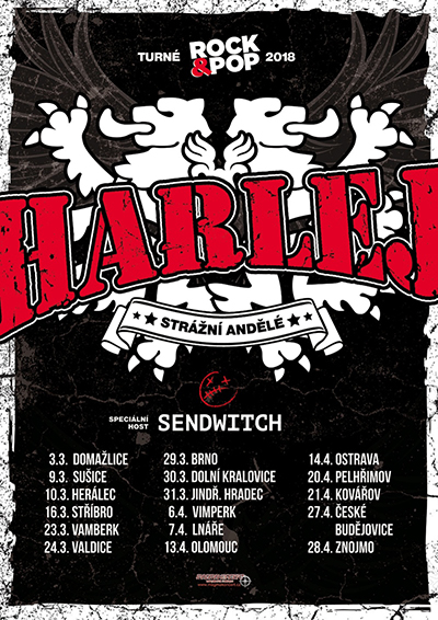 Harlej Rock&Pop Turné host: Sendwitch, Vimperk, 06/04/2018 19:30