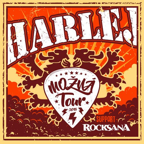 HARLEJ<br>MOŽNÁ TOUR 2018<br>Host: ROCKSANA
