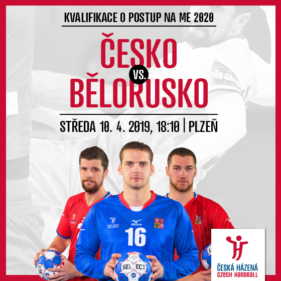 Česká republika - Bělorusko<br>Házená - muži, Kvalifikace mistrovství Evropy