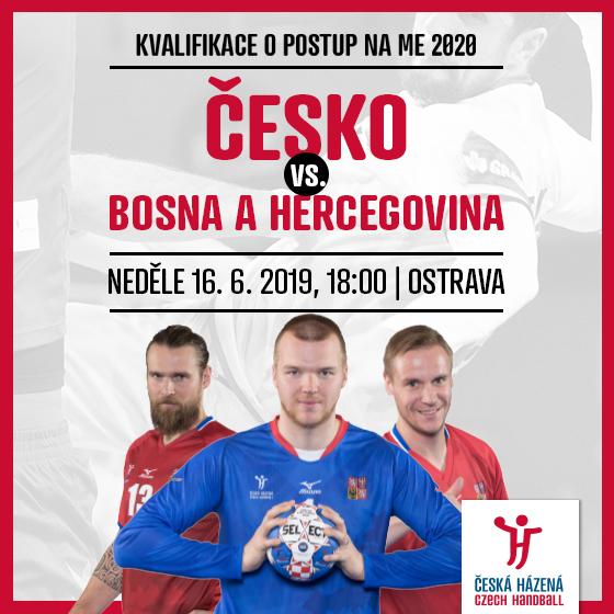 ČR - Bosna a Hercegovina<BR>Kvalifikace mistrovství Evropy<BR>Házená - muži