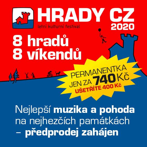 MORAVSKÉ HRADY.CZ 2020 Bouzov<br>Permanentka + VIP KEMP PLUS