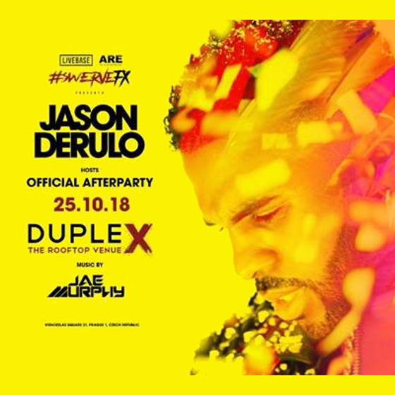 Official afterparty hosted byJason Derulo and Jae Murphy, Prague, 25/10/2018 22:00