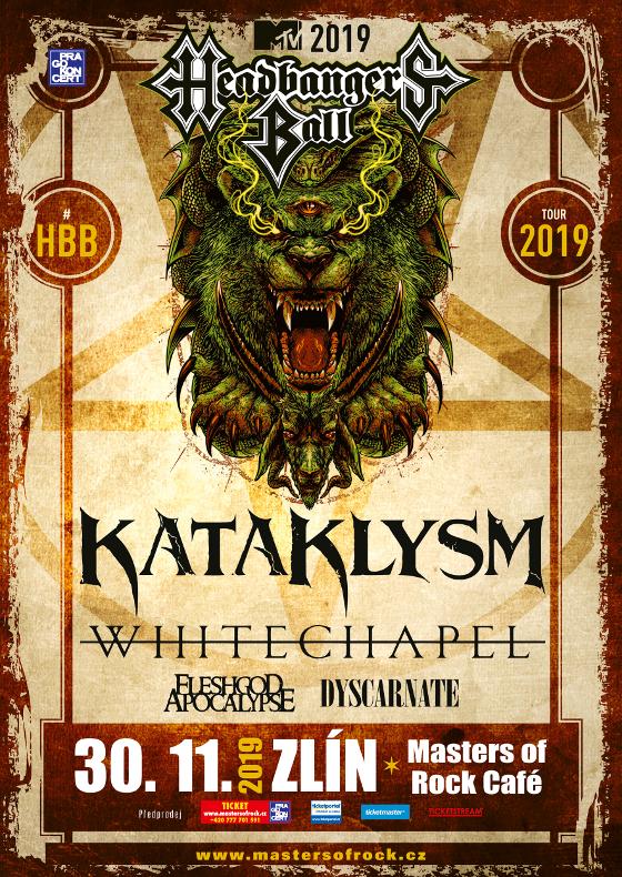 Kataklysm, Whitechapel, Eleshgod Apocalypse, Dyscarnate