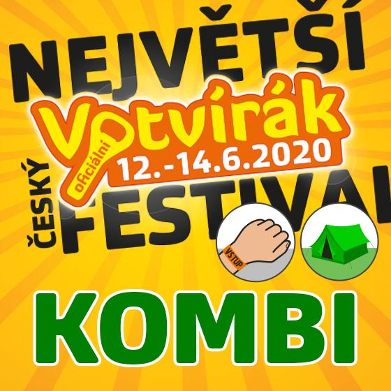 Festival Votvírák 2020<br>Největší hudební festival<br><b><font color=red>Klubová karta Kombi</font></b>
