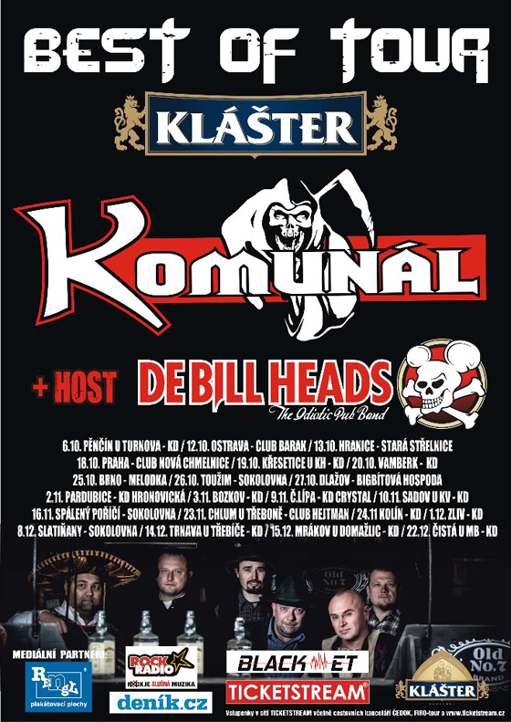 KOMUNÁL Best of tour 2018host: Debillheads, Toužim, 26/10/2018 20:00