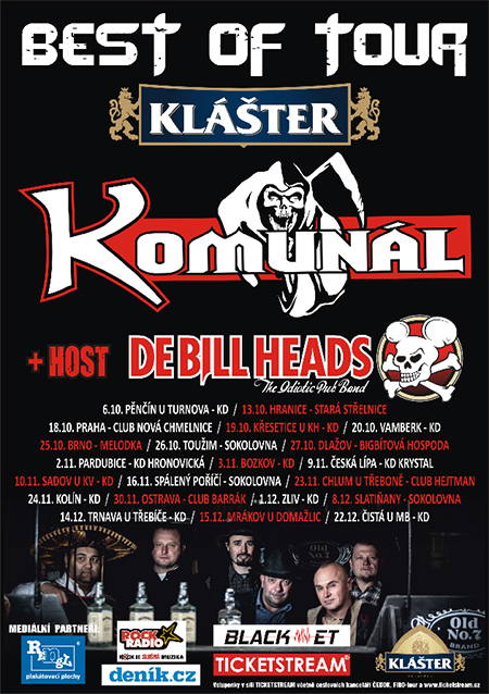 KOMUNÁL Best of tour 2018host: Debillheads, Turnov, 06/10/2018 20:00