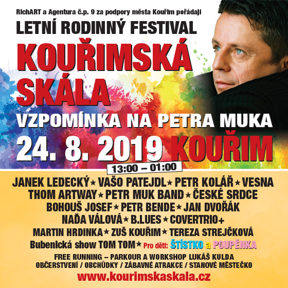 Festival Kouřimská skála 2019<br>Aneb Vzpomínka na Petra Muka
