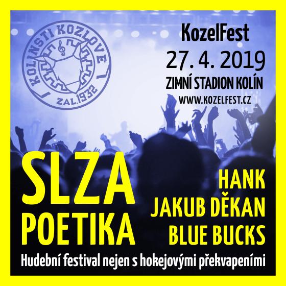 KozelFest 2019<br>Hudební festival pořádaný SC Kolín<br>S hokejovými a jinými překvapeními