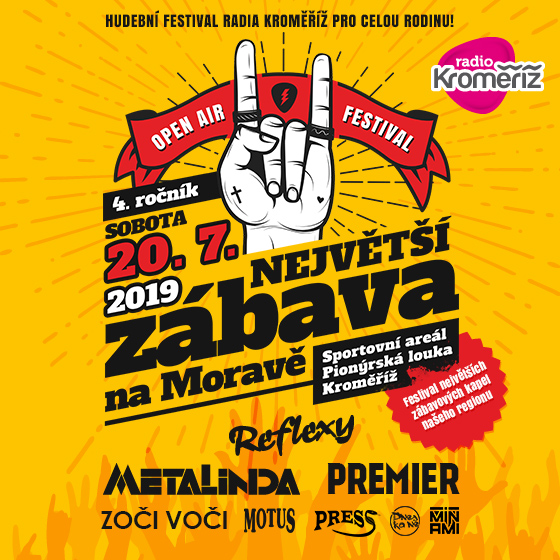 Festival Radia Kroměříž<BR>Největší zábava na Moravě<BR>4. ročník Open Air festivalu
