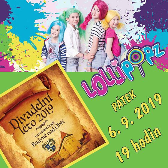 Lollipopz<br>Divadelní léto 2019 na vodním<br>hradě Budyně nad Ohří
