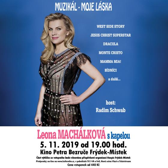 Koncert Leony Machálkové s kapelou<br>Muzikál - moje láska