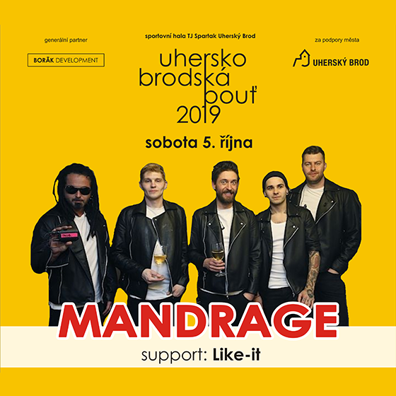 Uherskobrodská pouť 2019<br>MANDRAGE<br>support: Like-it