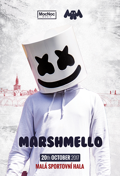 Marshmello<br>in Prague<br><font color=red>Vstup/Entrance 15+</font>