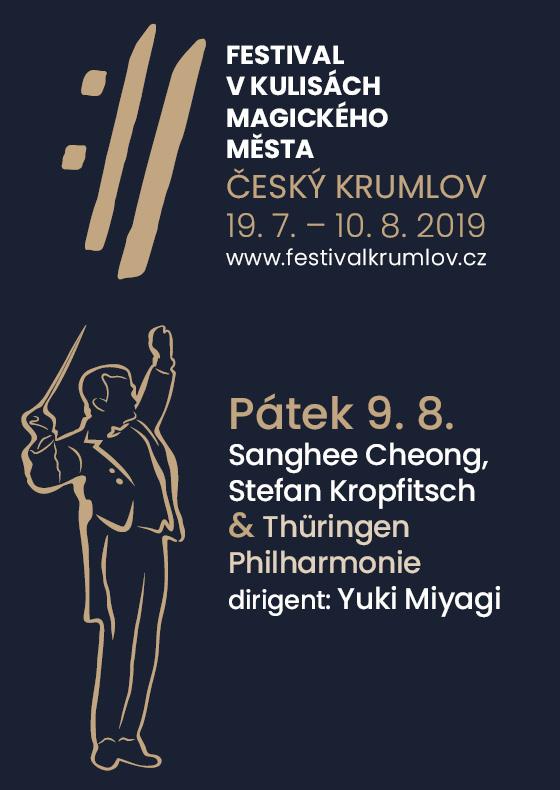Sanghee Cheong, Stefan Kropfitsch and Thüringen Philharmonie<BR>International Music Festival Český Krumlov 2019