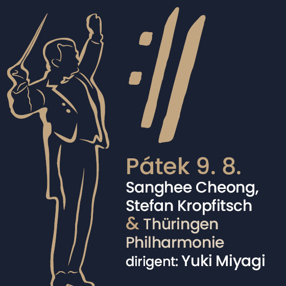 Sanghee Cheong, Stefan Kropfitsch and Thüringen Philharmonie<BR>International Music Festival Český Krumlov 2019
