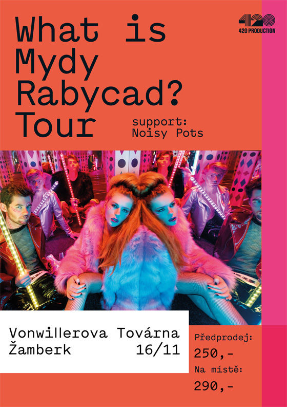 Mydy Rabycad What is Mydy Rabycad? support: Manu Destra, Žamberk, 16/11/2018 19:00