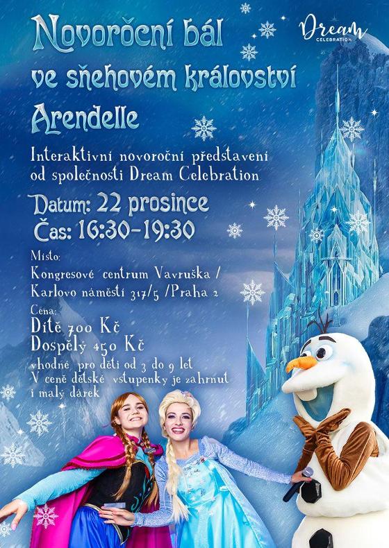 Novoroční bál ve sněhovém království Arendelle
