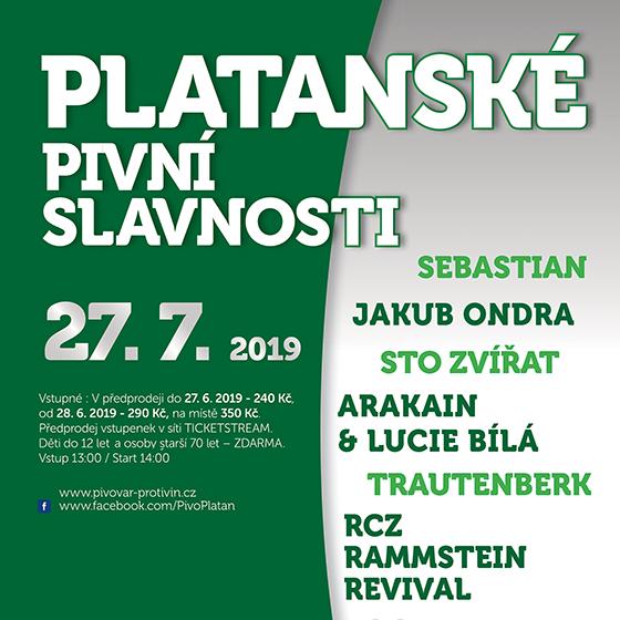 Platanské pivní slavnosti 2019<br>Arakain & Lucie Bílá, Trautenberk<br>RCZ Rammstein revival a další…