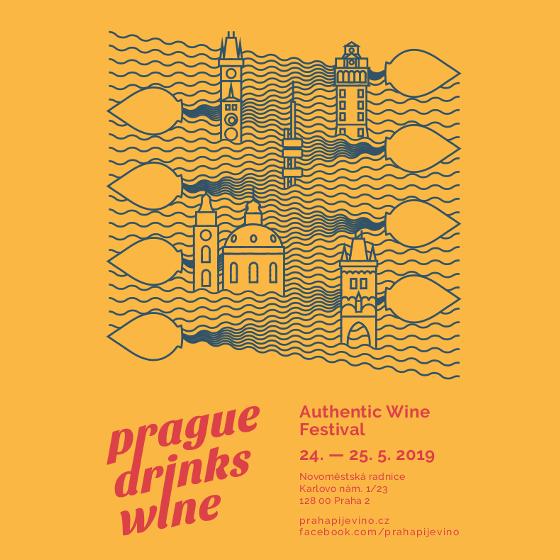 PRAHA PIJE VÍNO<br>PRAGUE DRINKS WINE<br>Authentic wine festival