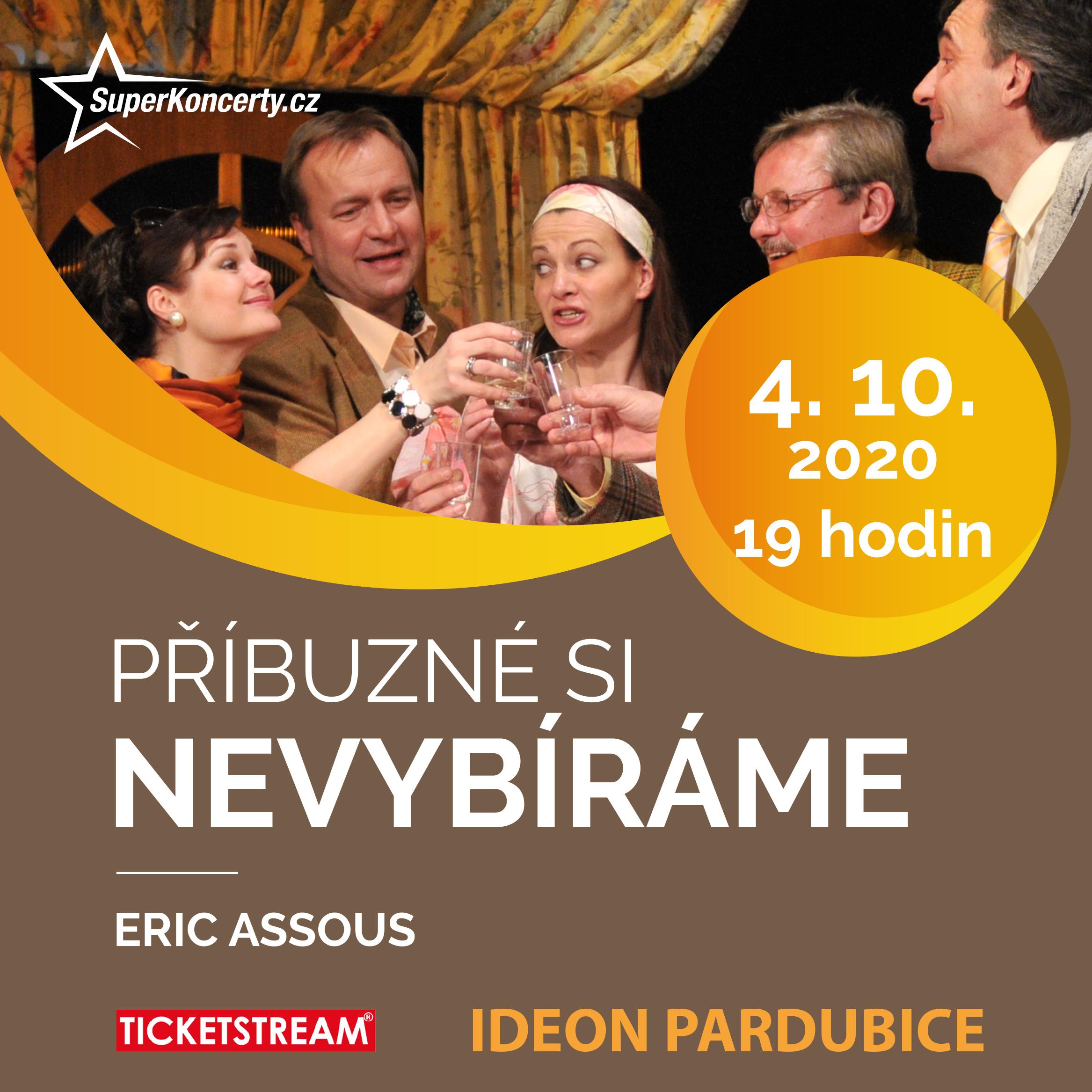 PŘÍBUZNÉ SI NEVYBÍRÁME-  Pardubice  -Ideon   Pardubice