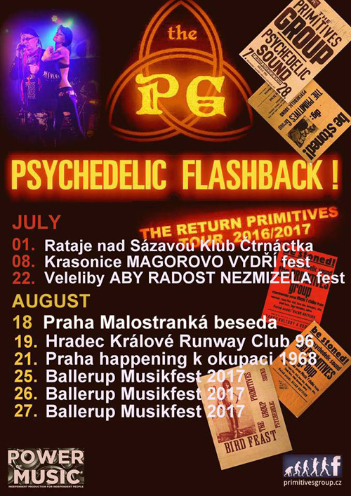 The Primitives Group psychedelic rock, Praha, 18/08/2017 21:00