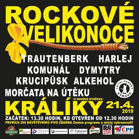 Rockové velikonoce<BR>Harlej, Dymytry, Trautenberk, Krucipusk,Komunál, Alkehol, Morčata
